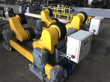 Yellow Color Welding Pipe Stands, 20T Wind Tower And Oil Pipe Welding Rollers