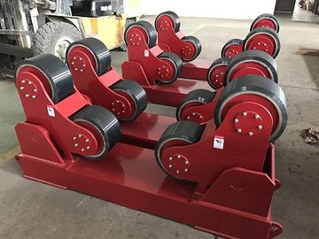 Exported Red Color Self Aligning Heavy Duty Roller Stand Beds With 380 / 550v Voltage