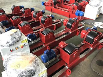 Rubber 10T  Lead Screw Conventional Welding Roller Stands, Pressure Vessel Welding Rotator