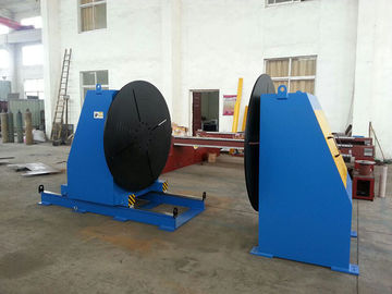 Head Tail Stock Welding Positioner , Welding Turn Table For Flange Elbow Welding