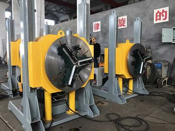 Hydraulic Lifting Pipe Turning Welding Rotary Positioner / Automatic Welding Positioner With Welding Chuck