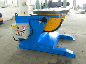 Blue 5 T Pipe Welding Positioners With Turning Working Table And Speed Digital Readout