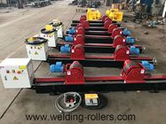 Lead Screw Pipe Welding Rotator Rubber And Steel Wheel Welding Roller Beds 20T Load Capacity