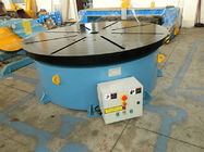 China Horizontal Welding Motorized Rotary Table Positioner 10 T for 1400 mm Table Diameter company