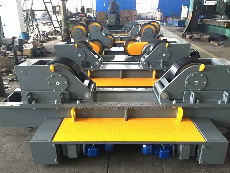 Rubber / Metal Conventional Pipe Welding Rollers 100T For
