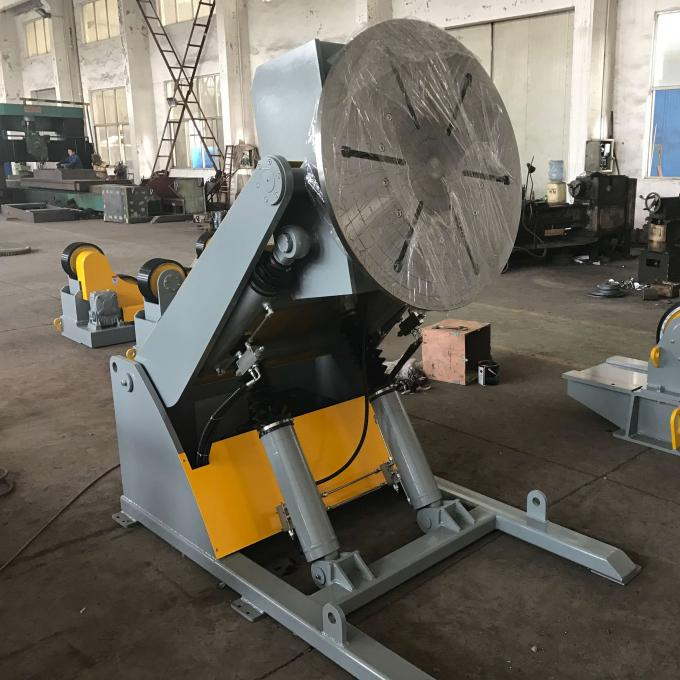 3T Hydraulic Welding Positioner , 3 Axis Tiltling And Rotary Welding Turn Table